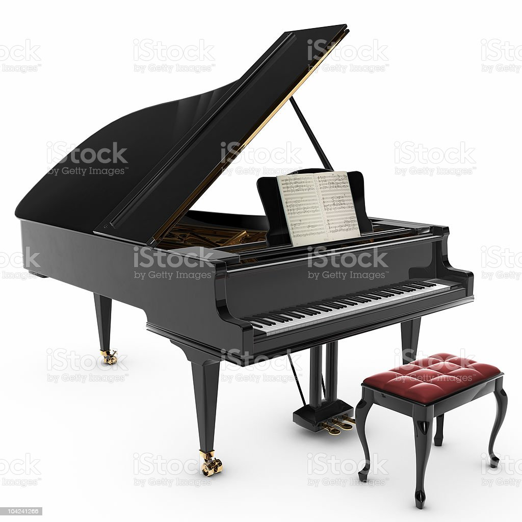 Grand Pianio royalty-free stock photo
