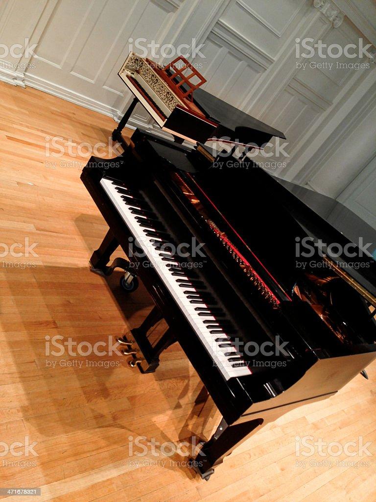 Grand Piano & Harpsichord stock photo