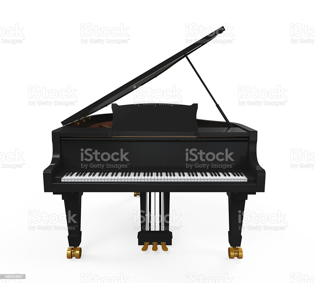 Grand Piano Isolated stock photo