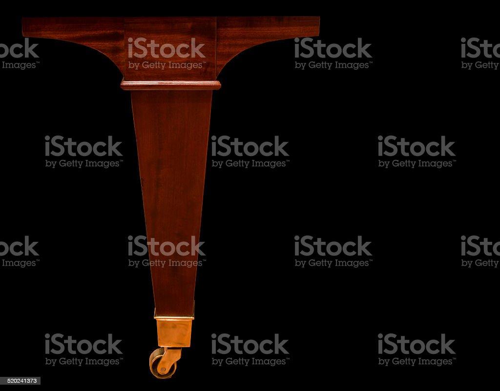 Grand Piano Leg with Brass Ferrules stock photo