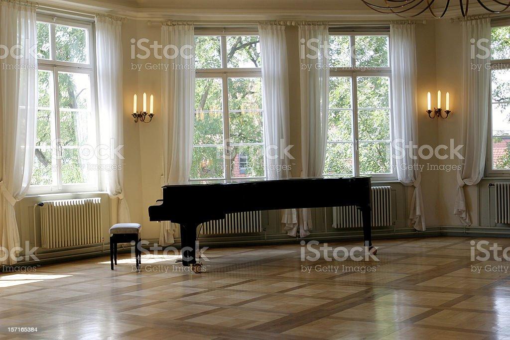 Grand piano room royalty-free stock photo