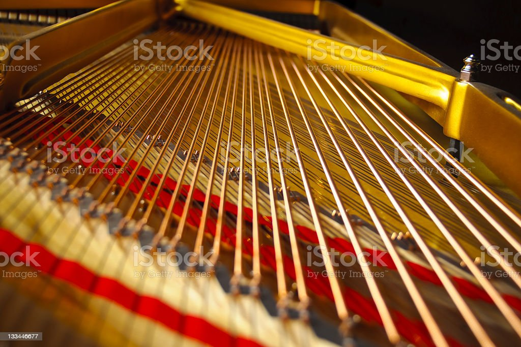 Grand Piano Strings royalty-free stock photo