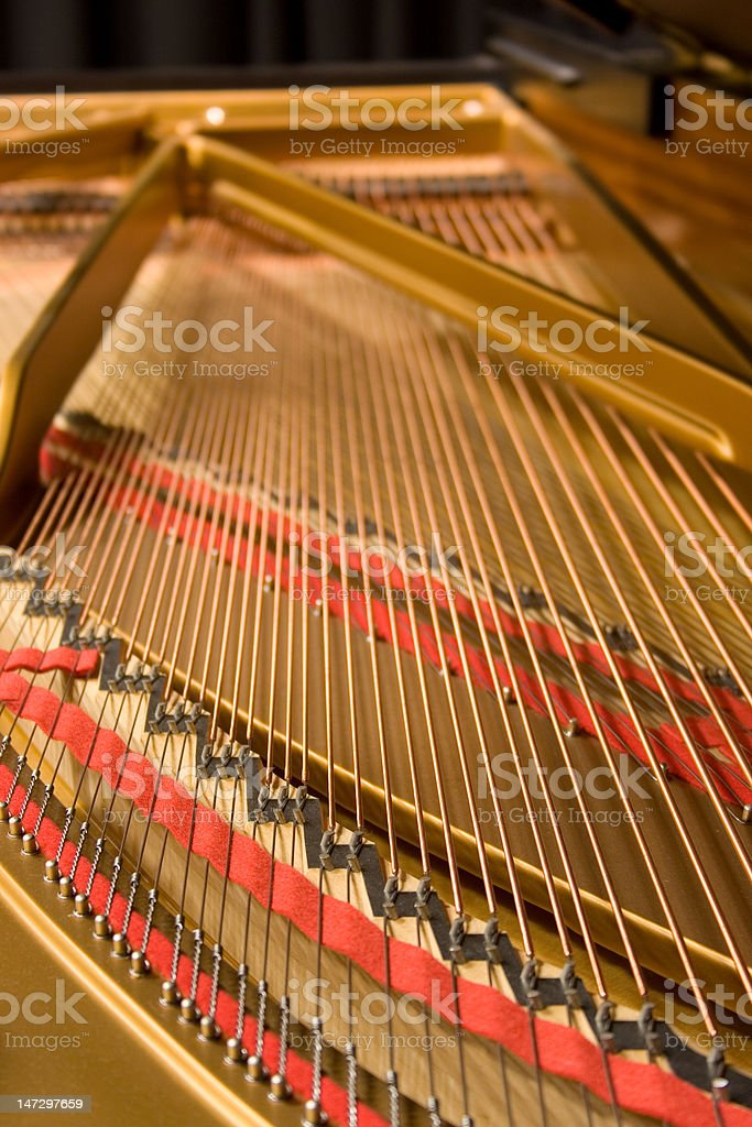 Grand Piano Strings stock photo