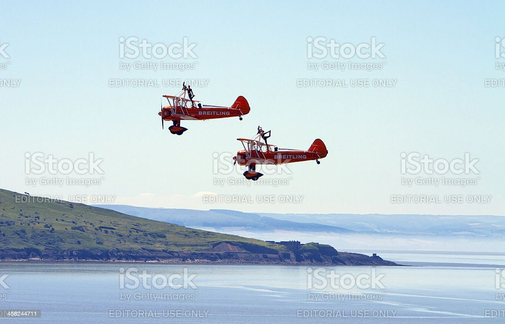 Grand Pier Airshow Weston-s-Mare England royalty-free stock photo