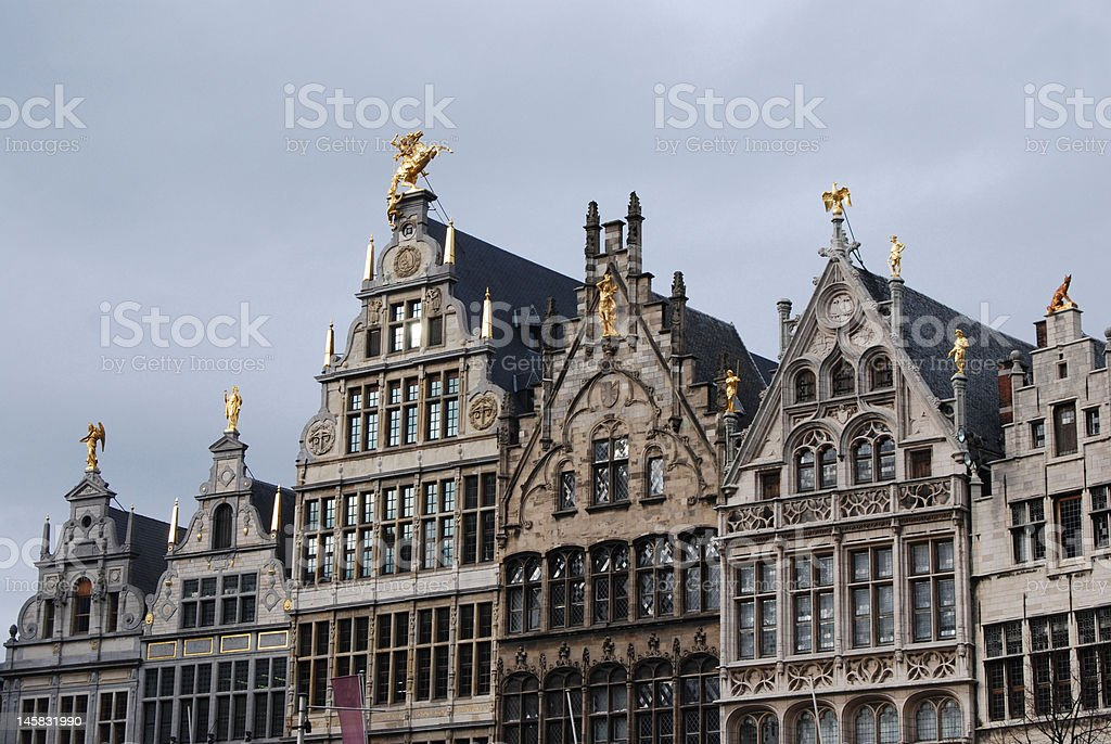 Grand place Antwerp royalty-free stock photo