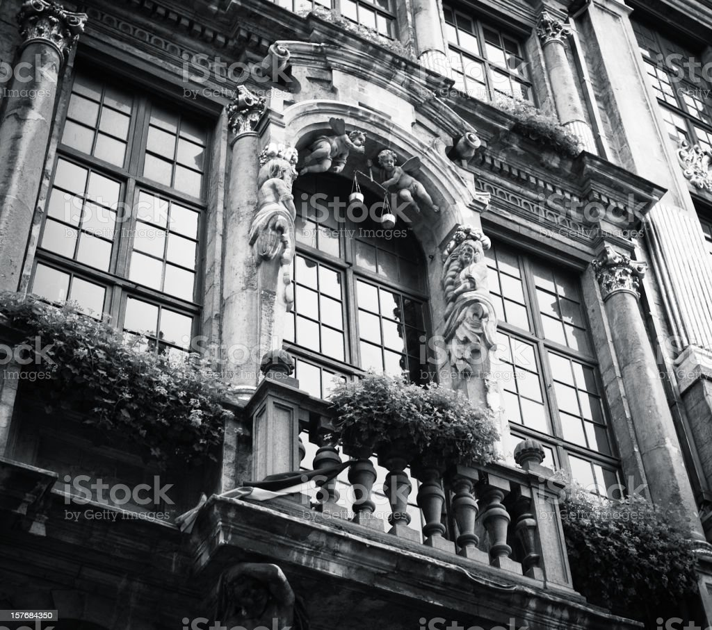 Grand Place Brussels Belgium - Monochrome Toned royalty-free stock photo