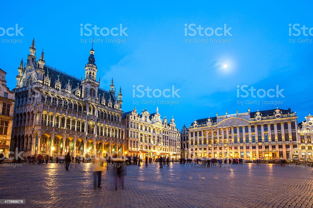 Grand Place Brussels, Belgium stock photo