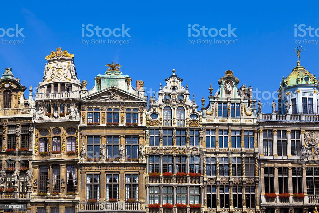 Grand Place, Brussels. stock photo