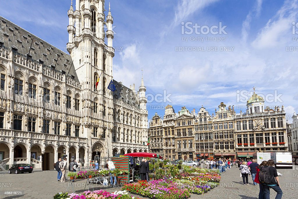 Grand Place (Grote Markt), Brussels. stock photo