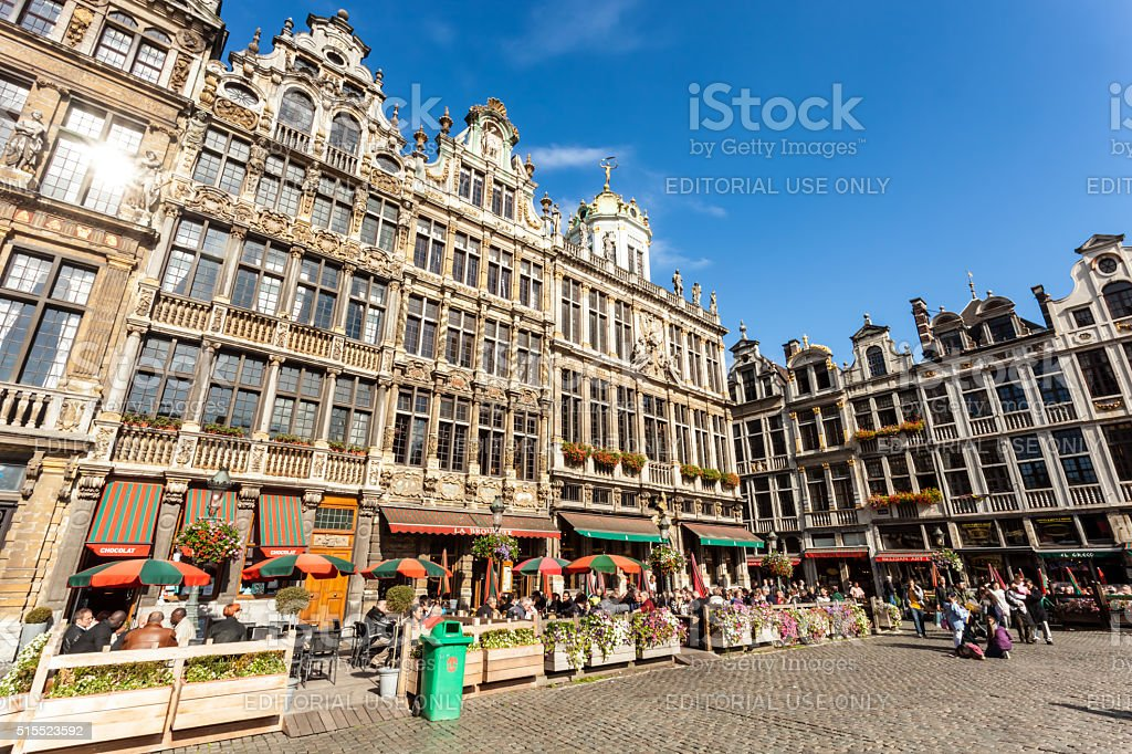 Grand Place, Brussels stock photo