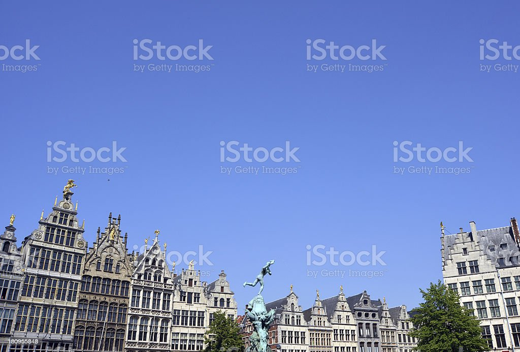 Grand place in Antwerp royalty-free stock photo
