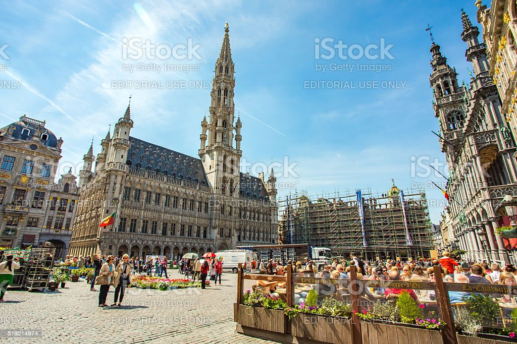 Grand Place (Grote Markt) in Brussels, Belgium stock photo