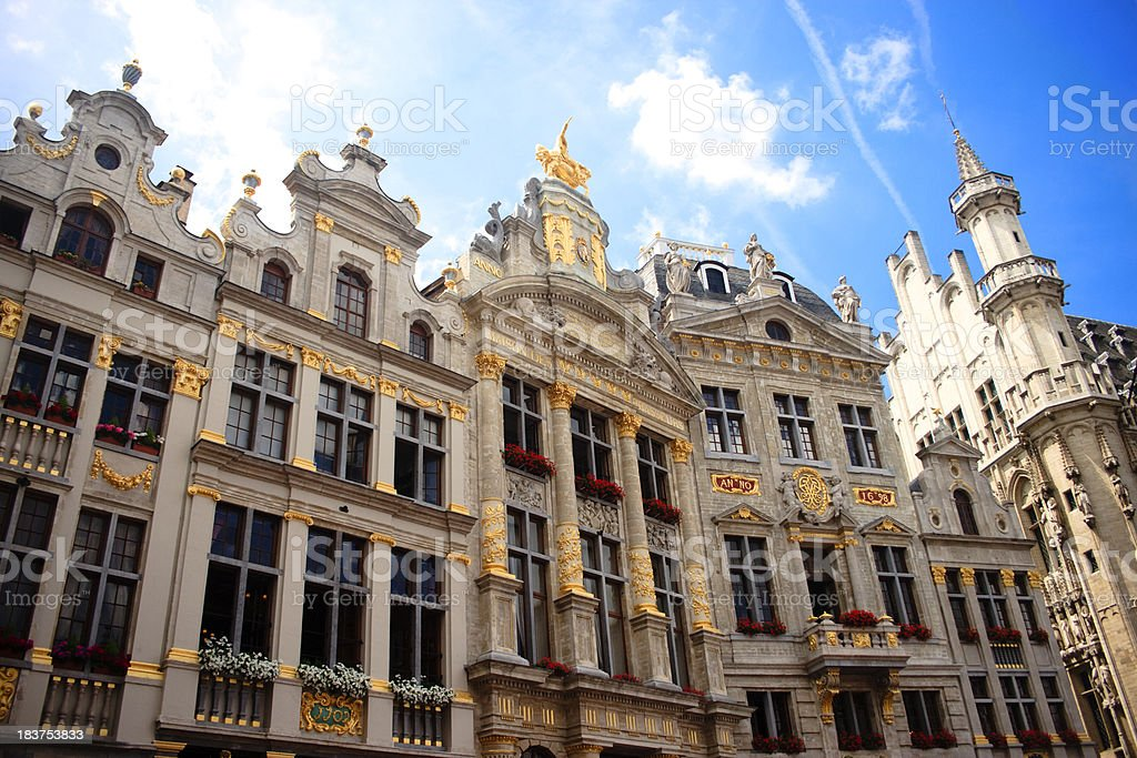 Grand Place in Brussels royalty-free stock photo