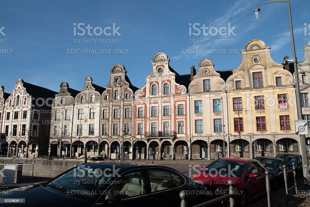 Grand place of Arras stock photo