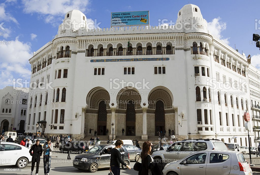 Grand Post Office in Algiers royalty-free stock photo