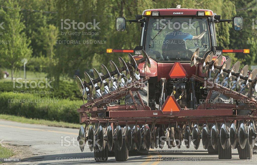 Grand Pre Farmer stock photo