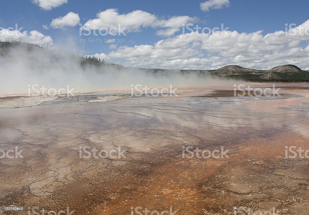 Grand Prismatic Pool royalty-free stock photo