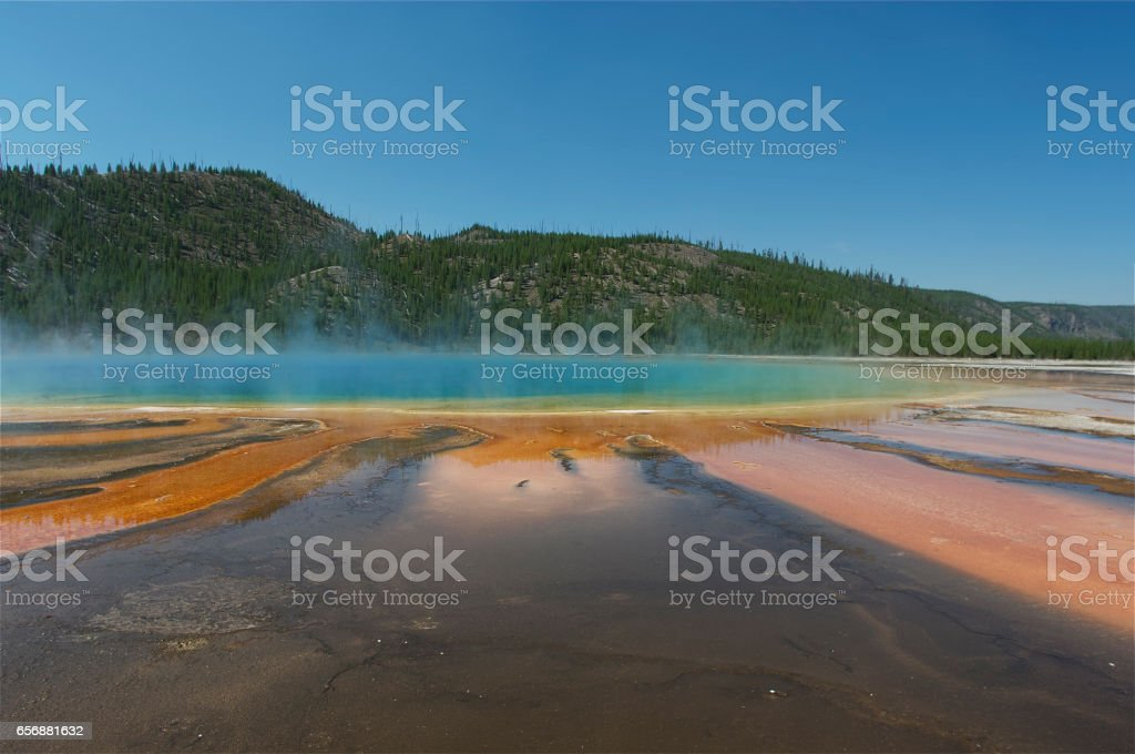 Grand Prismatic Spring in Yellowstone National Park,USA stock photo
