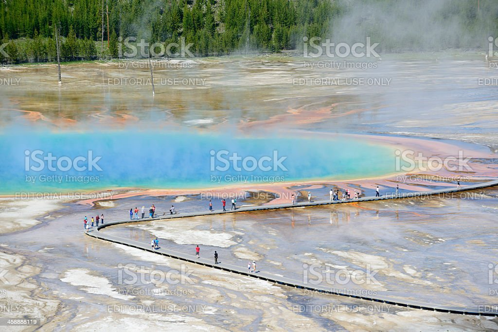 Grand Prismatic Spring royalty-free stock photo