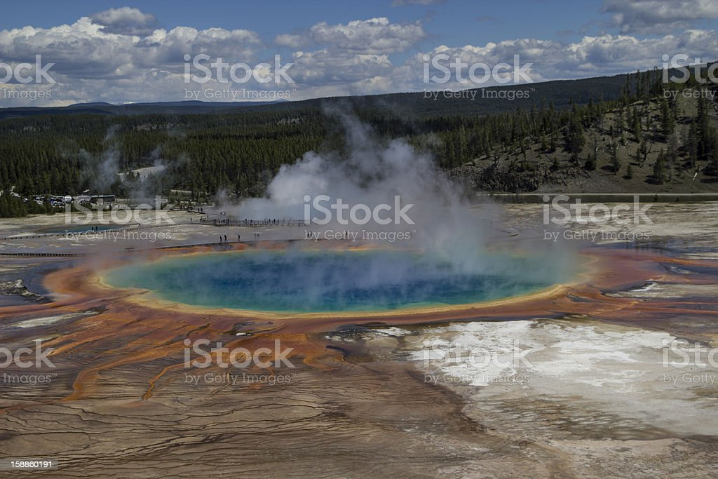 Grand Prismatic Spring Yellowstone National Park royalty-free stock photo