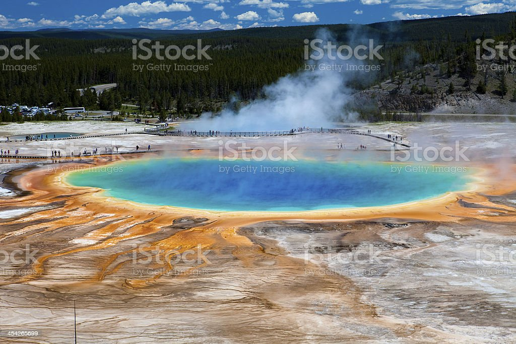 Grand Prismatic Spring - Yellowstone National Park royalty-free stock photo