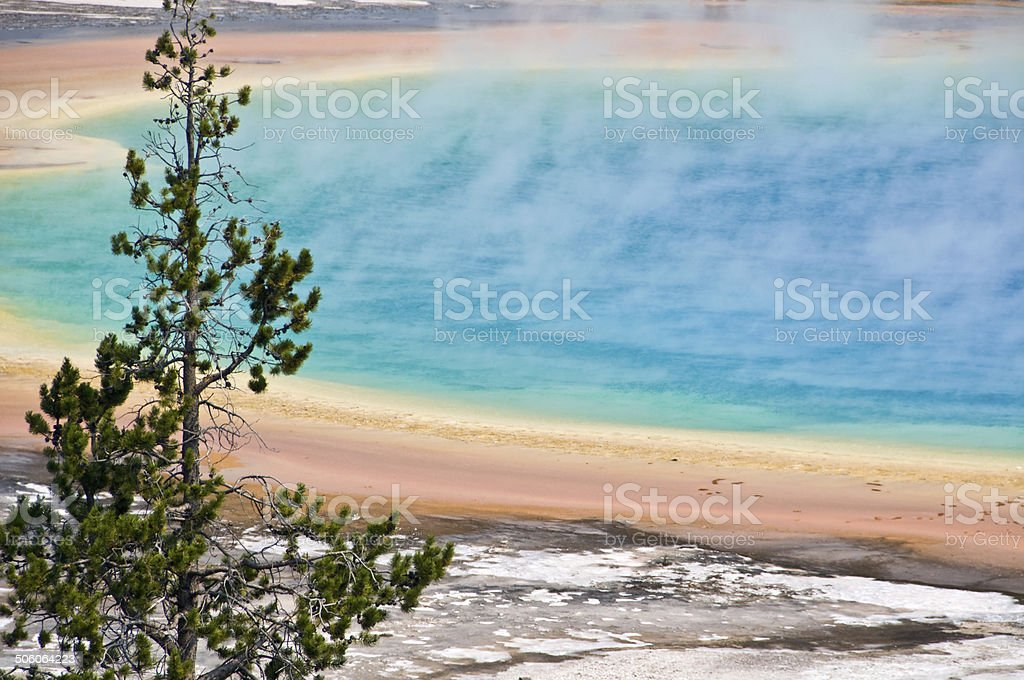 Grand Prismatic spring, Yellowstone National Park, USA stock photo