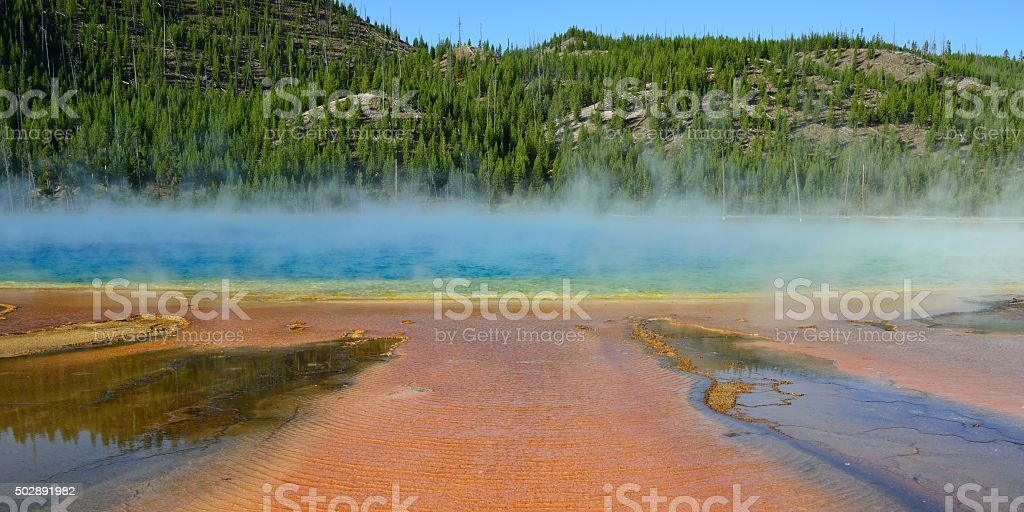 Grand Prismatic Spring, Yellowstone stock photo