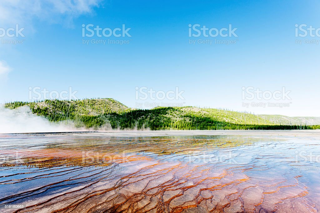 Grand Prismatic Springs stock photo