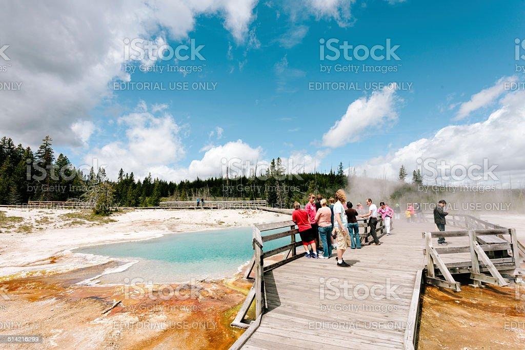 Grand Prismatic Springs, Yellowstone stock photo