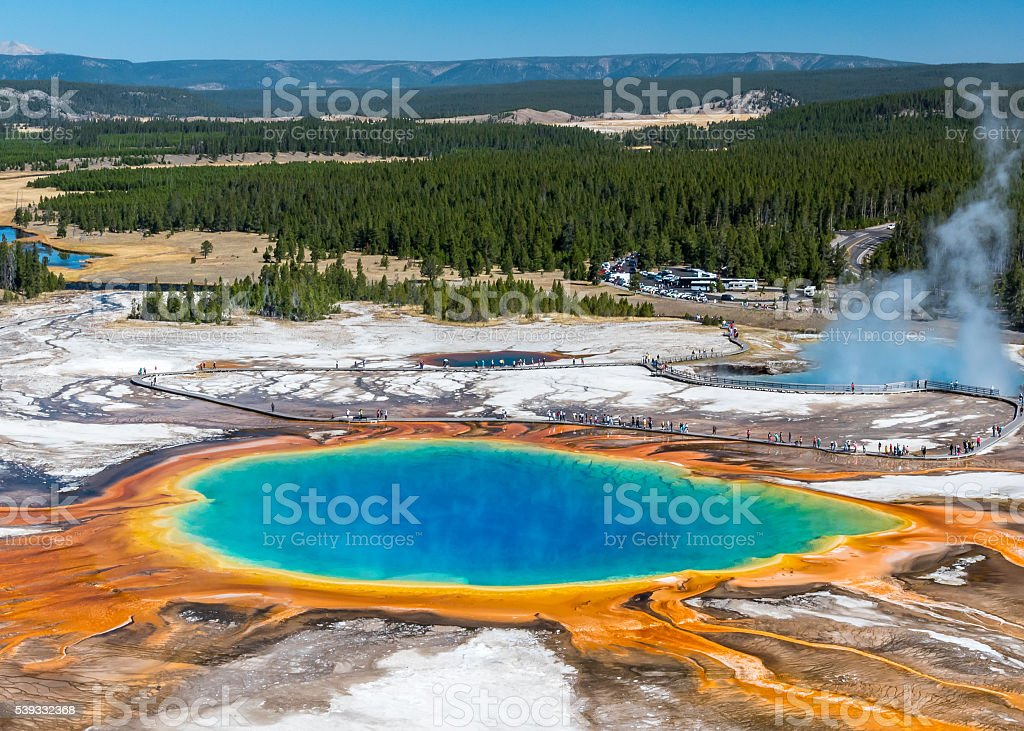 Grand Prismatic Yellowstone stock photo