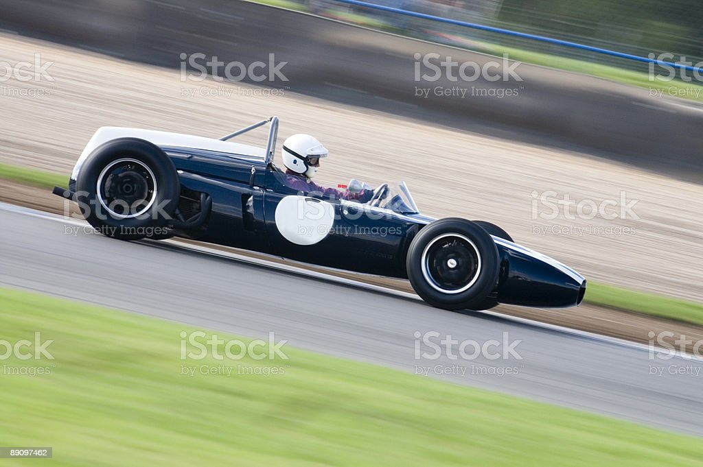 Grand Prix Car 1960s Formula 1 in action on track royalty-free stock photo