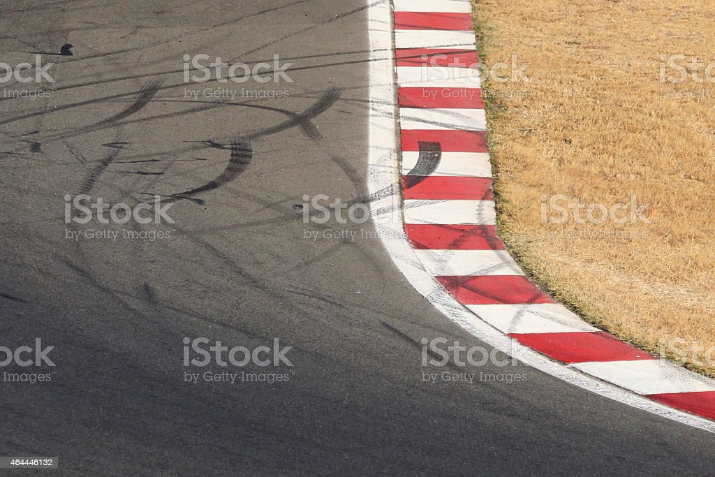 Grand prix circuit corner stock photo