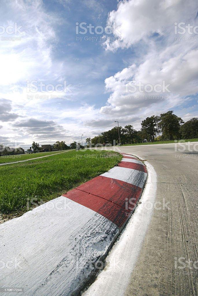 Grand Prix Left Turn stock photo