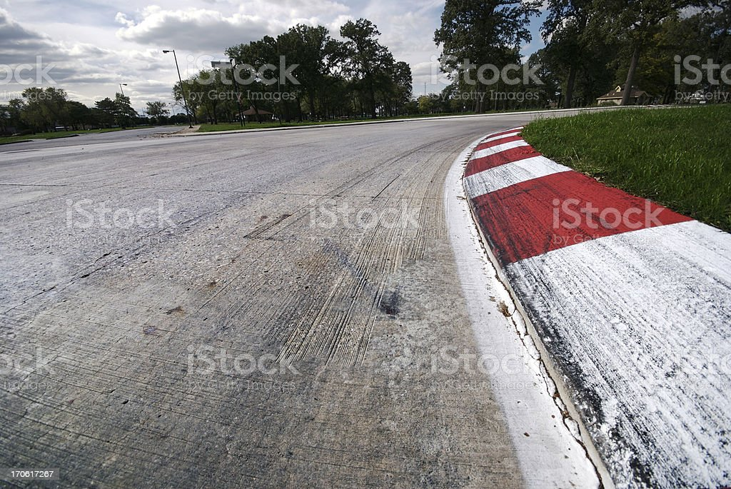 Grand Prix Turn. Wide. stock photo