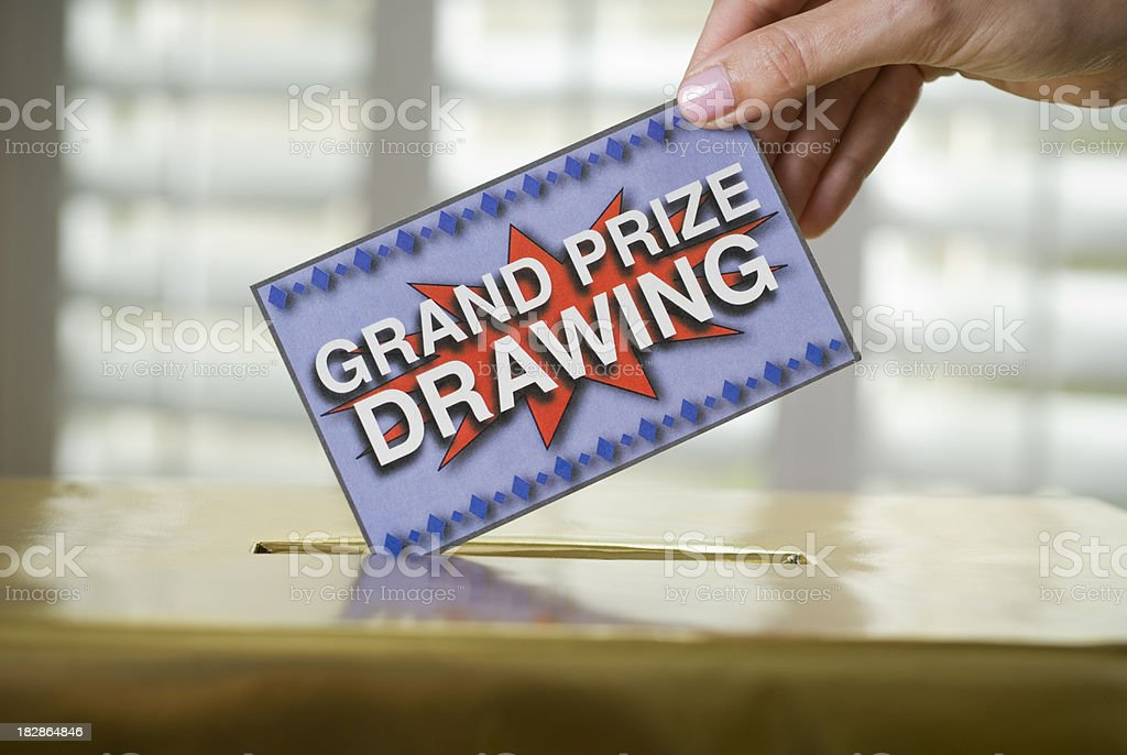 Grand Prize Drawing stock photo