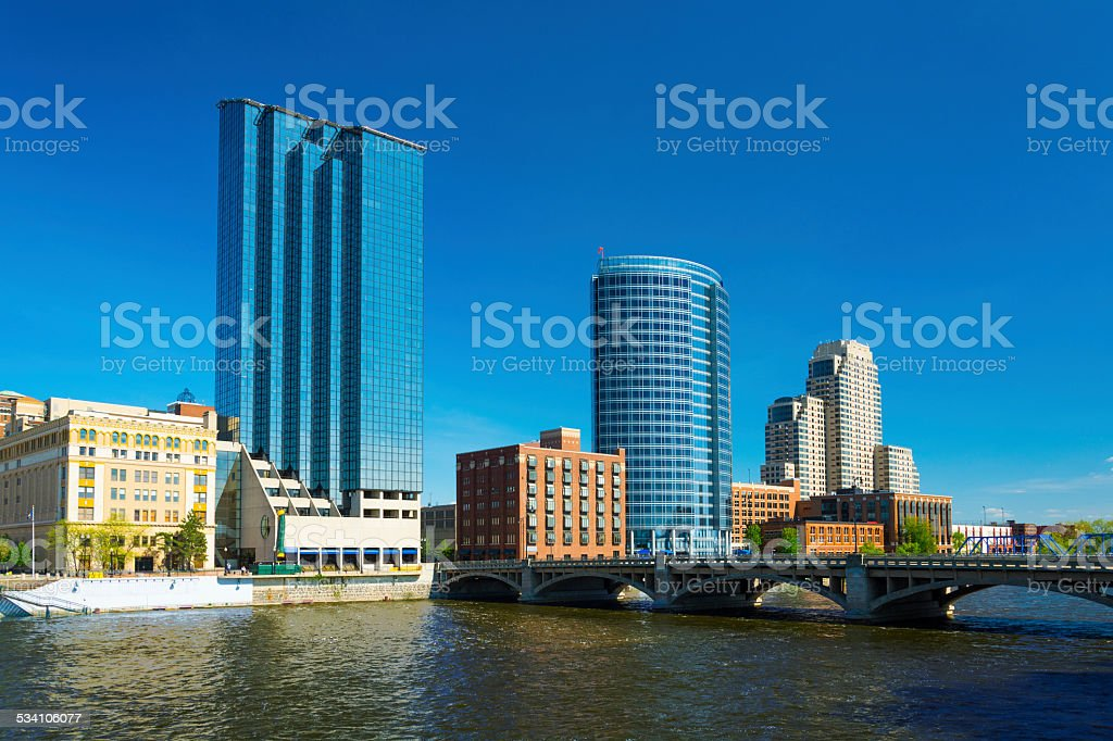 Grand Rapids downtown skyline stock photo