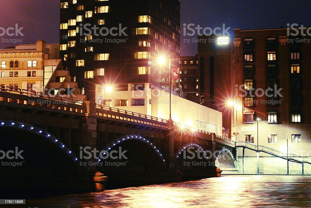 Grand River Lights stock photo