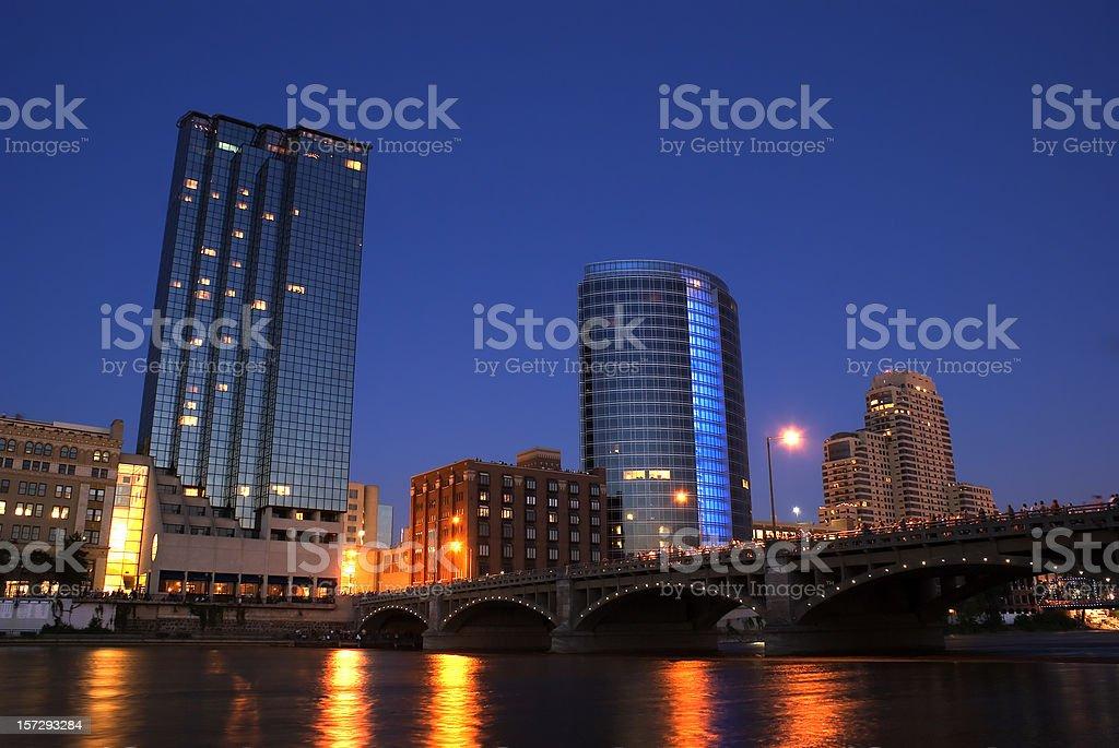 Grand River Night III stock photo