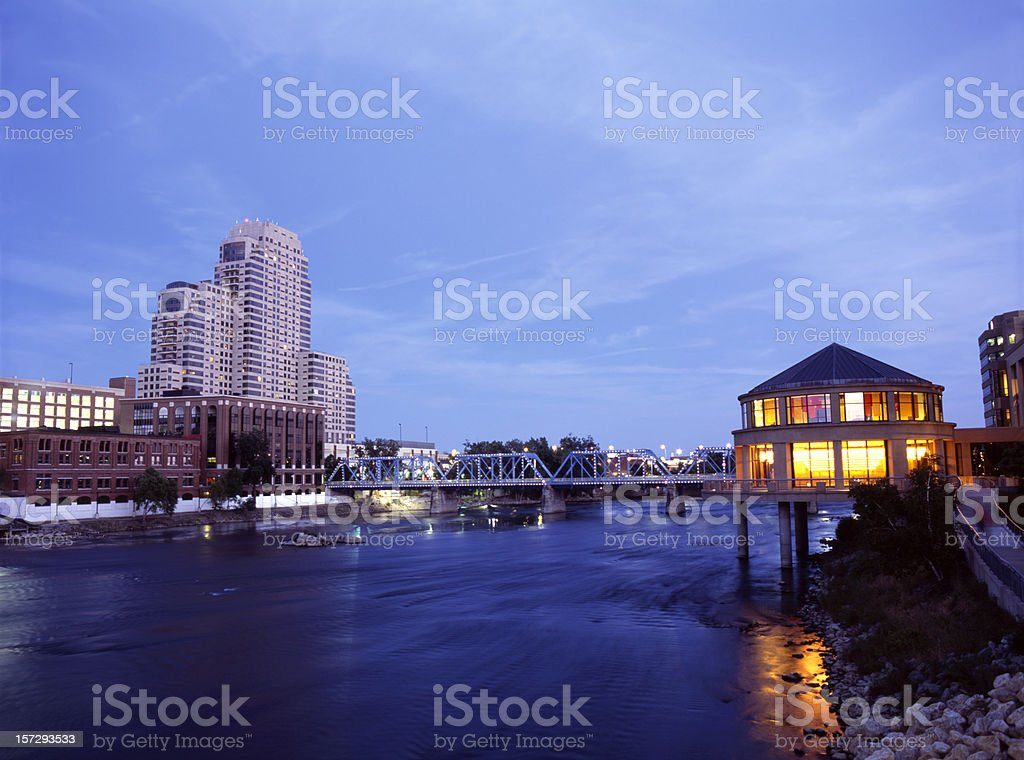 Grand River Night V stock photo