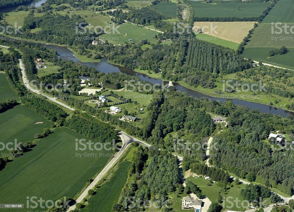 Grand River scenery stock photo