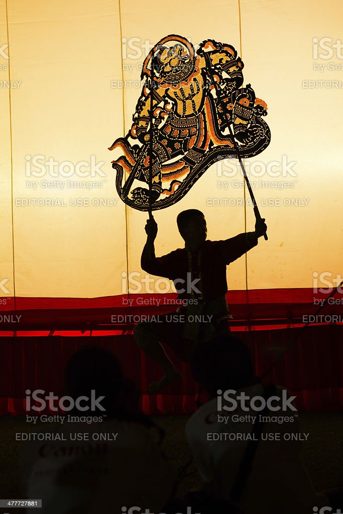 Grand shadow play royalty-free stock photo