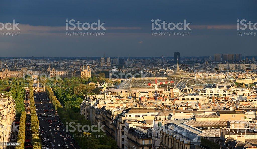 Grand Palais skyline stock photo