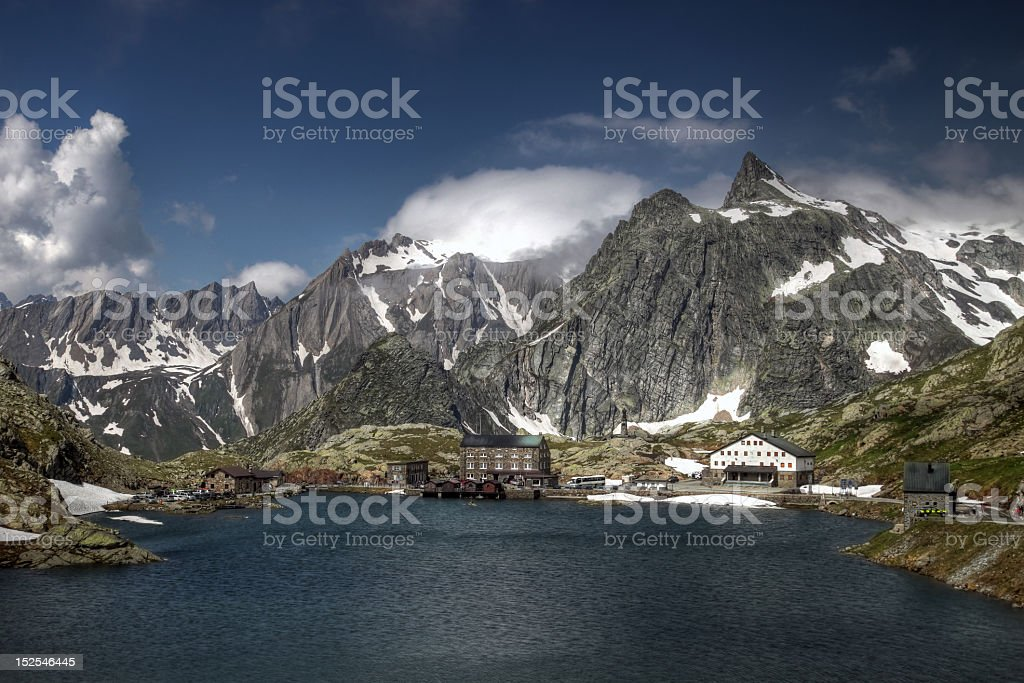 Grand St Bernard Pass, Switzerland/Italy stock photo