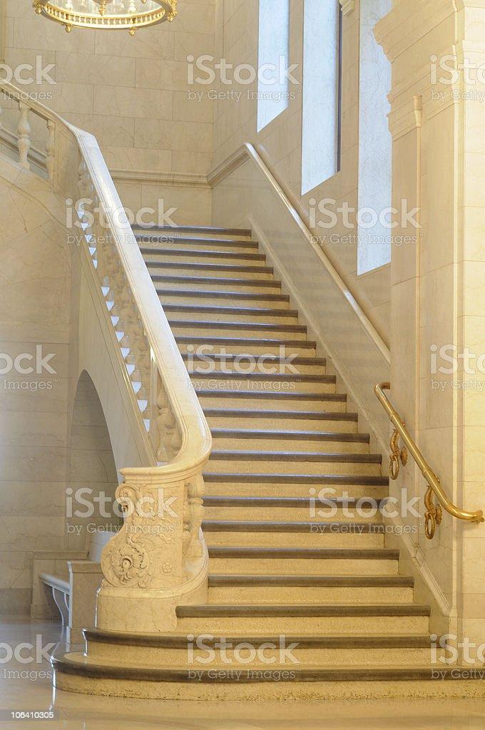 Grand staircase stock photo