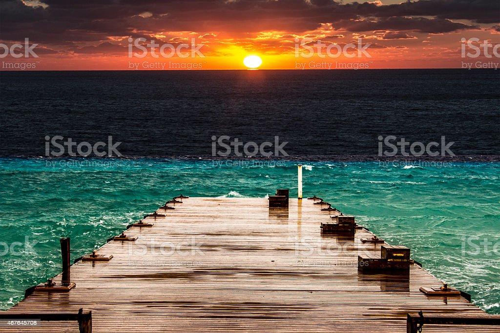 Grand Sunset stock photo