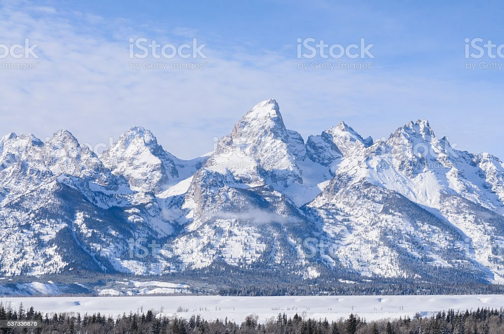 Grand teton and yellowstone national park Wyoming USA stock photo