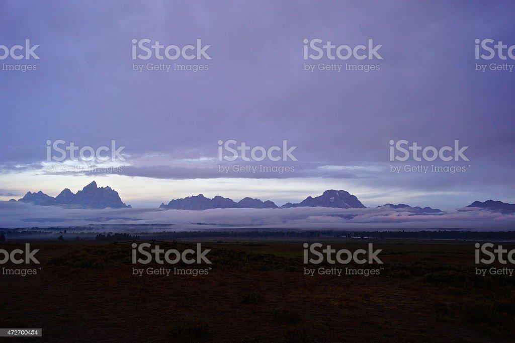 Grand Teton Dawn stock photo