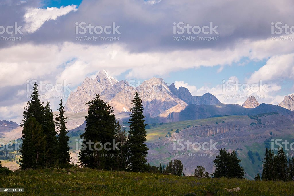 Grand Teton Hiking Trail 2 stock photo