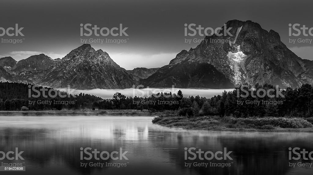 Grand Teton Landscape Oxbow Bend stock photo