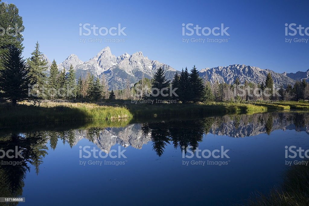 Grand Teton Landscape royalty-free stock photo